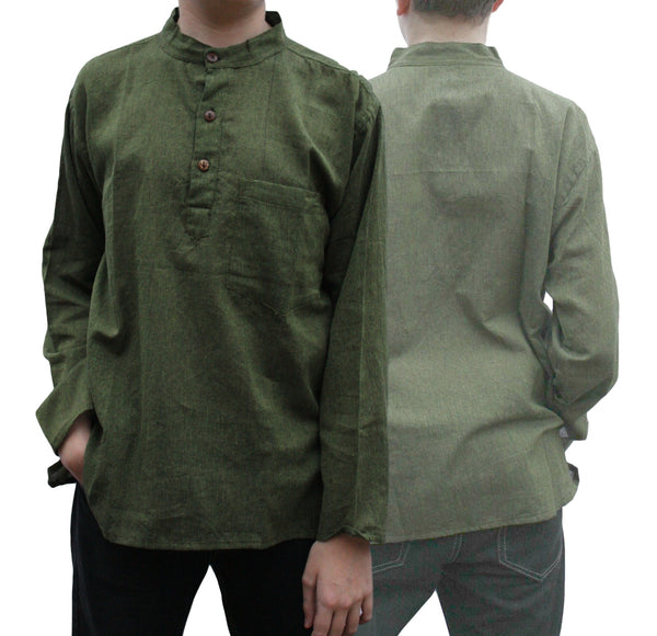 Kurta / Grandad Shirt - Green