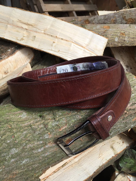 Moroccan Travel Belt - in Dark Brown