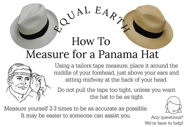 Natural Panama Hat (Black Band) & Travel Tube