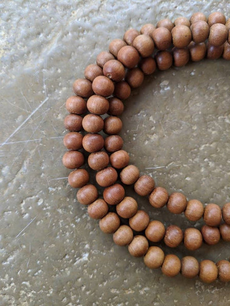 Sandalwood Mala Beads - 8mm