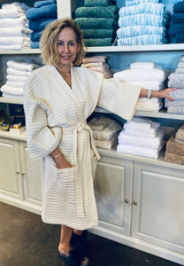 Jumbo Waffle Shawl Collar Robe by The Purists