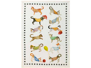 Best Friends Gatti Kitchen Towel by Tessitura Toscana Telerie
