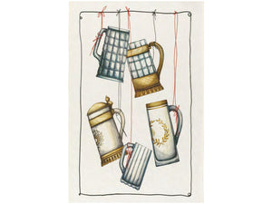 Pub Birra Kitchen Towel by Tessitura Toscana Telerie