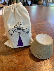 Incense Pedestal With Lavender by Farmhouse Pottery