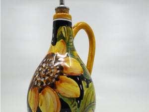 Italian Olive Oil Cruet with Sunflower