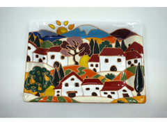 Tuscan Scene Rectangular Tray