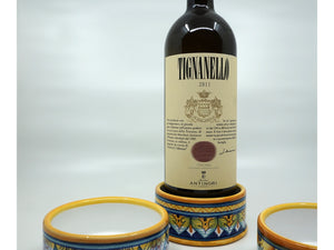 Italian Ceramic Wine Coaster
