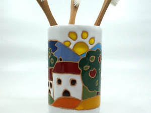Tuscan Scene Toothbrush Holder