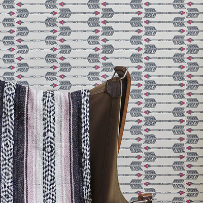 Barneby Gates wallpaper - Arrows, Charcoal Pink