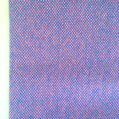 Luxury Wool, Pink on Blue - Flock