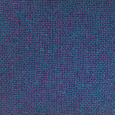 Luxury Wool, Purple on Turquoise - Flock