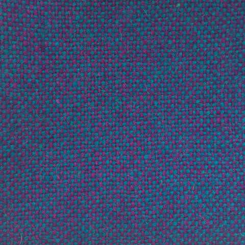 Luxury Wool Fabric - Purple on Turquoise