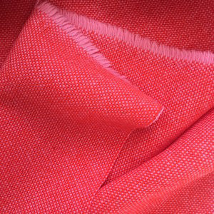 Luxury Wool Fabric - Red on Pale Pink