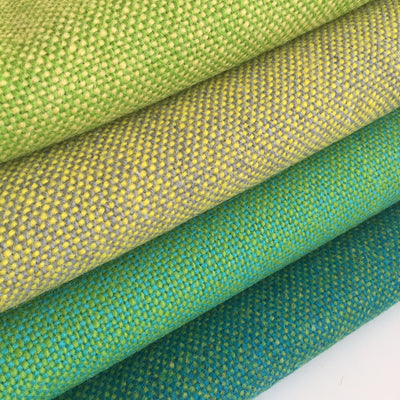 Luxury Wool, Green on Yellow - Flock