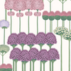 Allium - Mulberry & Blush on White