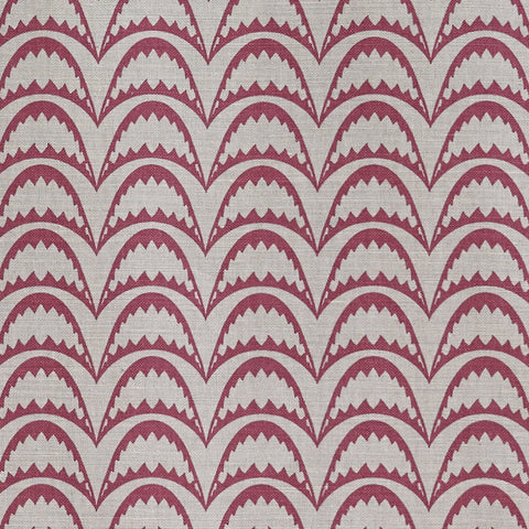 Barneby Gates fabric - Arcade, Raspberry on Stone