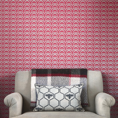 Barneby Gates wallpaper - Arcade, Raspberry