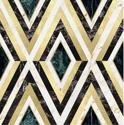 Diamonds in Brass Wallpaper - Manhattan Metallic Collection- Mind the Gap