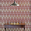 Barneby Gates wallpaper - Chess, Burgundy