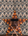 Diamonds in Copper Wallpaper - Manhattan Metallic Collection- Mind the Gap