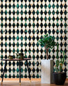 Empire Emerald Metallic Wallpaper - Manhattan Metallic Collection- Mind the Gap