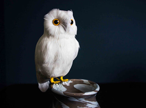 Artificial Large White Owl - 20% Off
