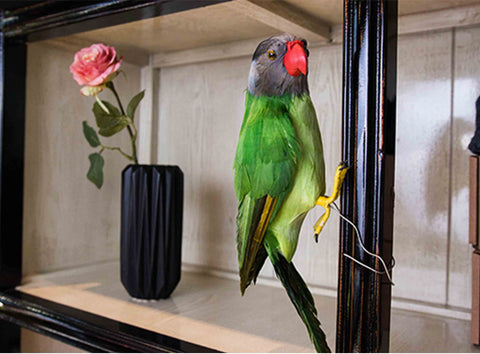 Artificial Green Parrot - 20% Off