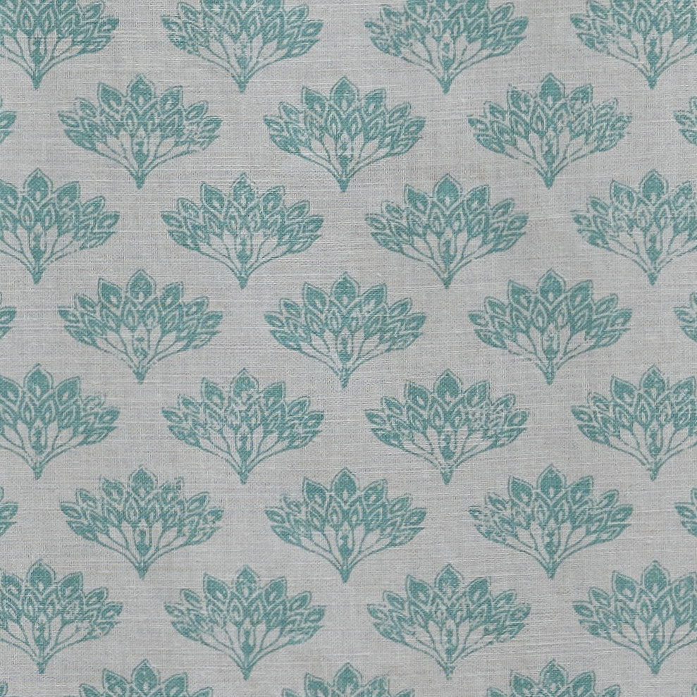 Barneby Gates fabric - Peacock, Teal