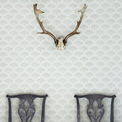 Barneby Gates wallpaper - Peacock, Grey