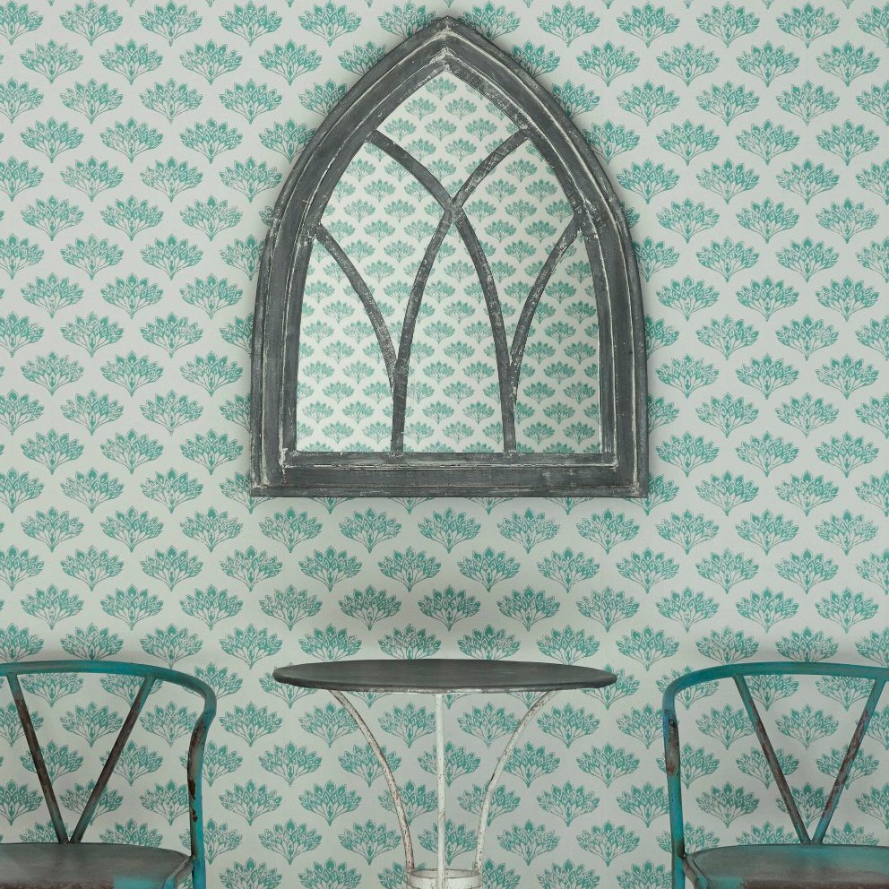 Barneby Gates wallpaper - Peacock, Teal