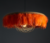 The Fabulous Feather 'Juliette' Pendant Shade - Burnt Orange
