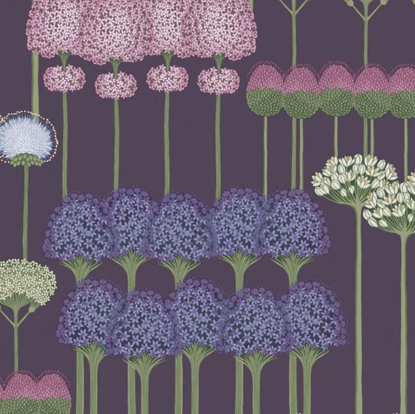 Allium - Mulberry & Heather on Violet