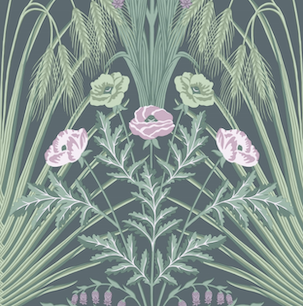 Bluebell - Sage, Mint & Lilac on Charcoal