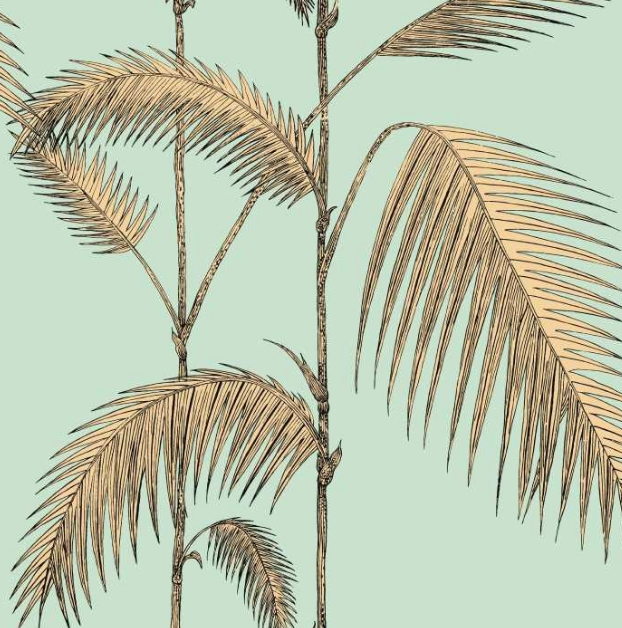 Palm Leaves - Mint & Yellow