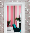 Glastonbury Stripes - Pink on Linen