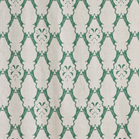 Barneby Gates fabric - Boxing Hares, Green