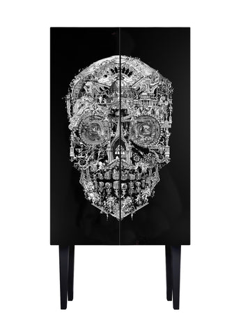 Sanctuary Skull Tall Cabinet - 10% off