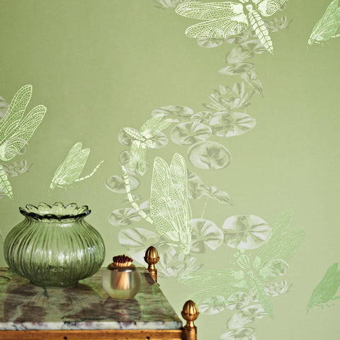 Barneby Gates wallpaper - Dragonfly, Apple Green