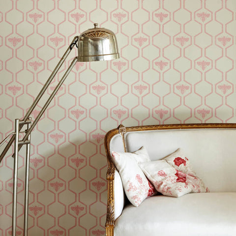 Barneby Gates wallpaper - Honey Bees, Rose on Stone