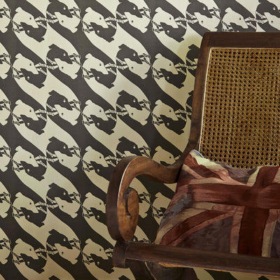 Barneby Gates wallpaper - Dogs, Charcoal