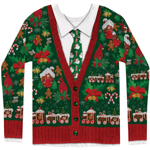 Ugly Christmas Cardigan Shirt