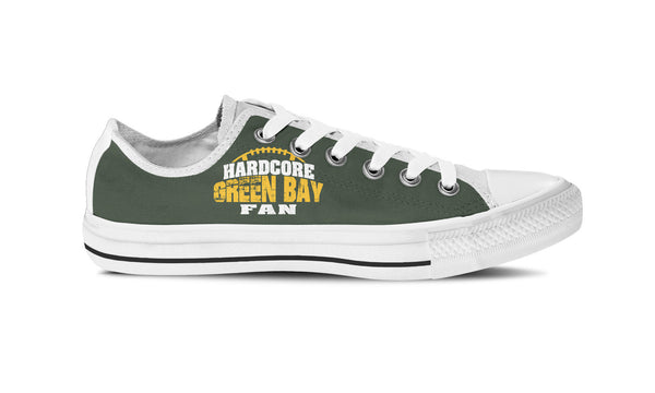 Hardcore Green Bay Football Fan Womens High Top Shoe