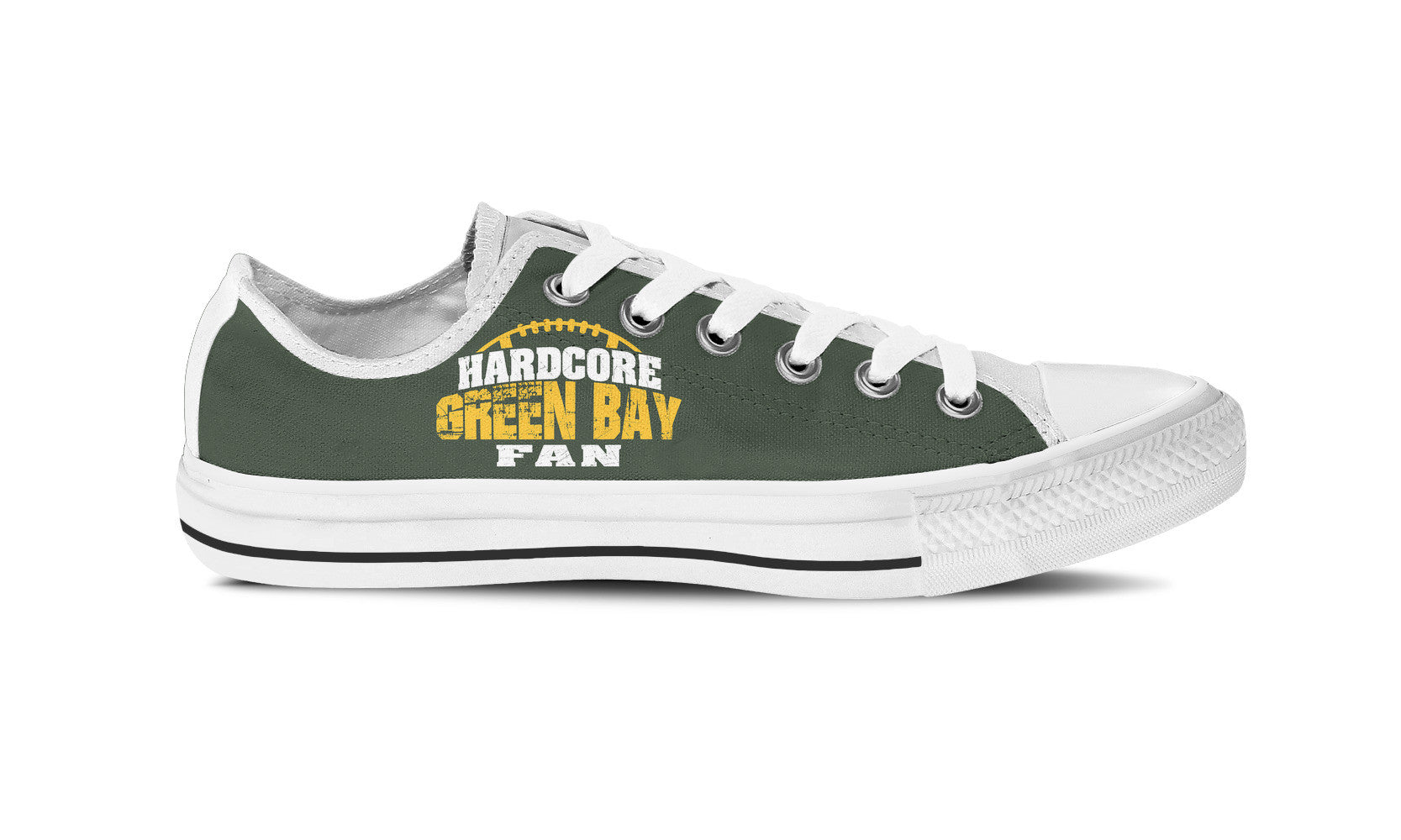 Hardcore Green Bay Football Fan Womens Shoe