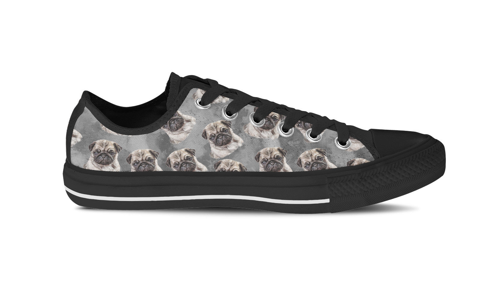 Pug Love Womens Shoe (Black)