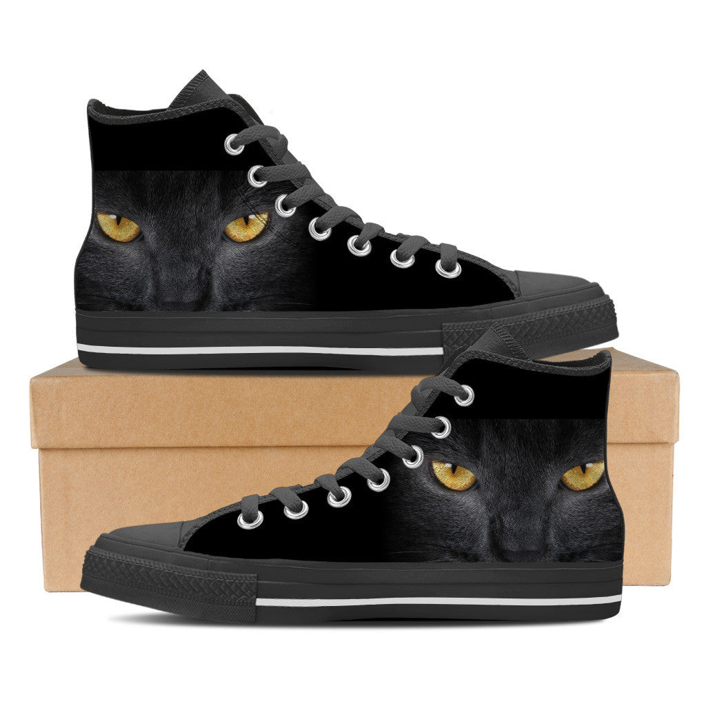 Black Cat Mens High Top Shoe