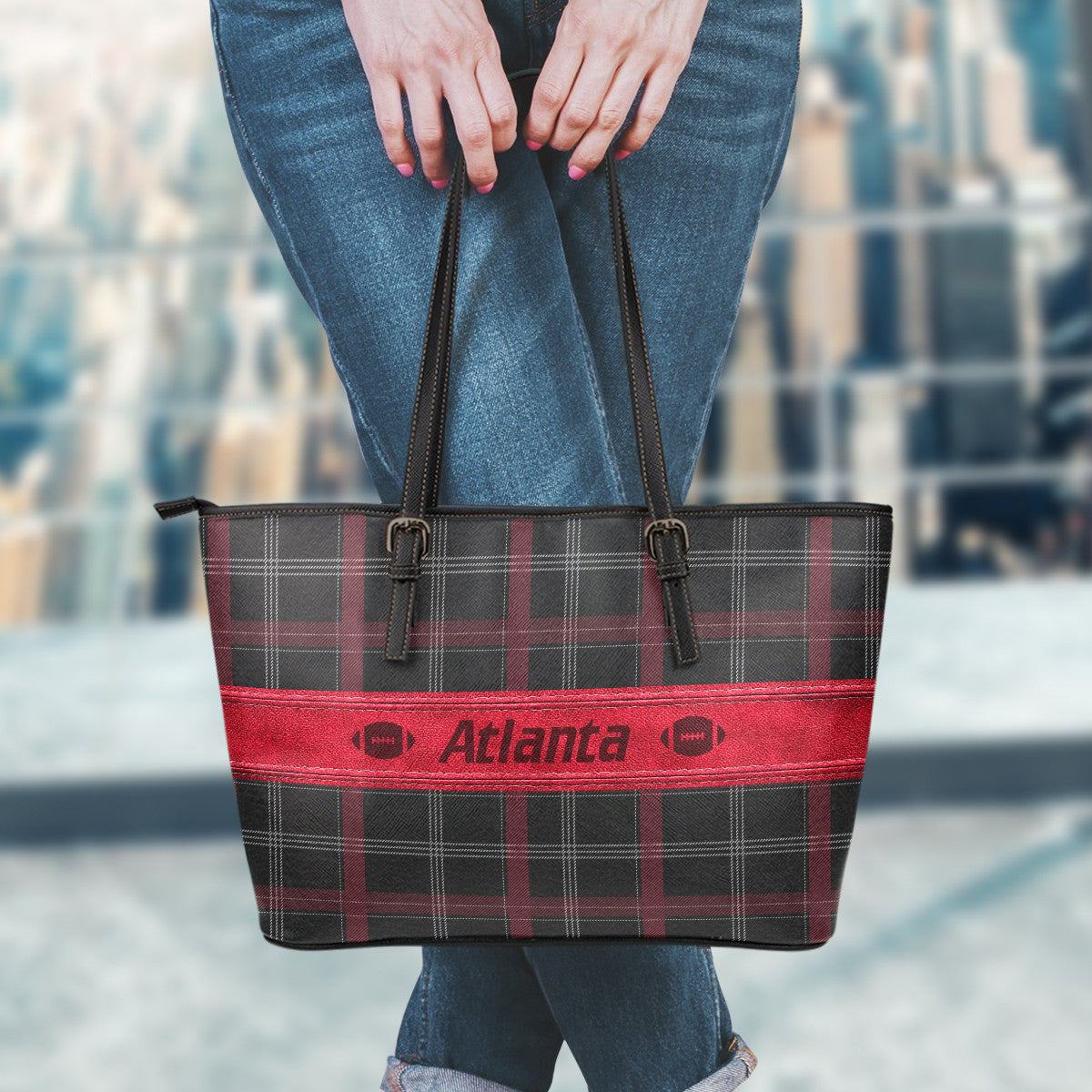 Atlanta Football Leather Tote