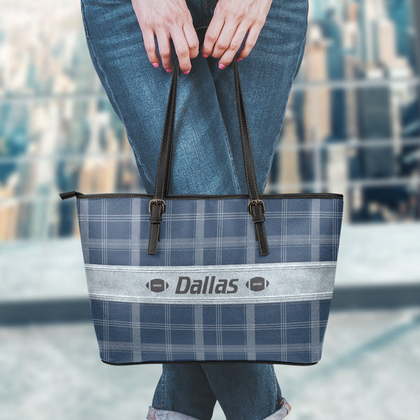 Dallas Football Leather Tote