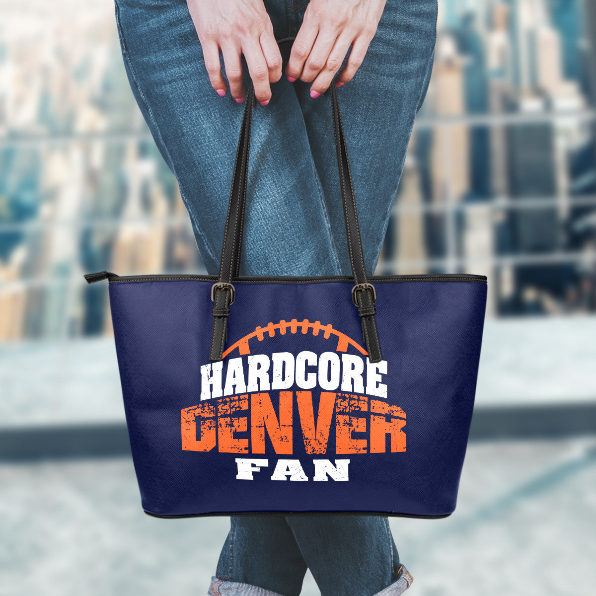 Denver Football Leather Tote
