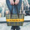 Green Bay Football Leather Tote