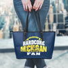Michigan Football Leather Tote